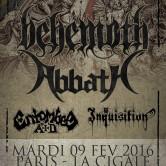 BEHEMOTH + ABBATH + ENTOMBED AD + INQUISITION @ La Cigale