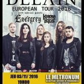 DELAIN + EVERGREY + KOBRA AND THE LOTUS @u Metronum