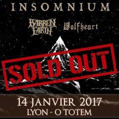 INSOMNIUM + BARREN EARTH + WOLFHEART @ la MJC O TOTEM (Lyon)