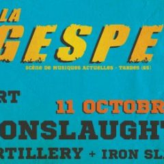 ONSLAUGHT + ARTILLERY + IRON SLAUGHT @ la Gespe