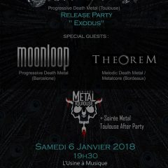STORMHAVEN + MOONLOOP + THEOREM + SOIREE METAL TOULOUSE @ l'Usine A Musique