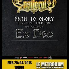ENSIFERUM + EX DEO + WIND ROSE @u Metronum
