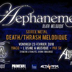 AEPHANEMER + VARKODYA + ATROCIRAPTOR @ L'Usine A Musique