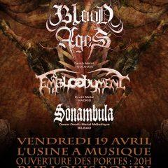 BLOOD AGES + EMBLOODYMENT + SONAMBULA @ L'Usine A Musique