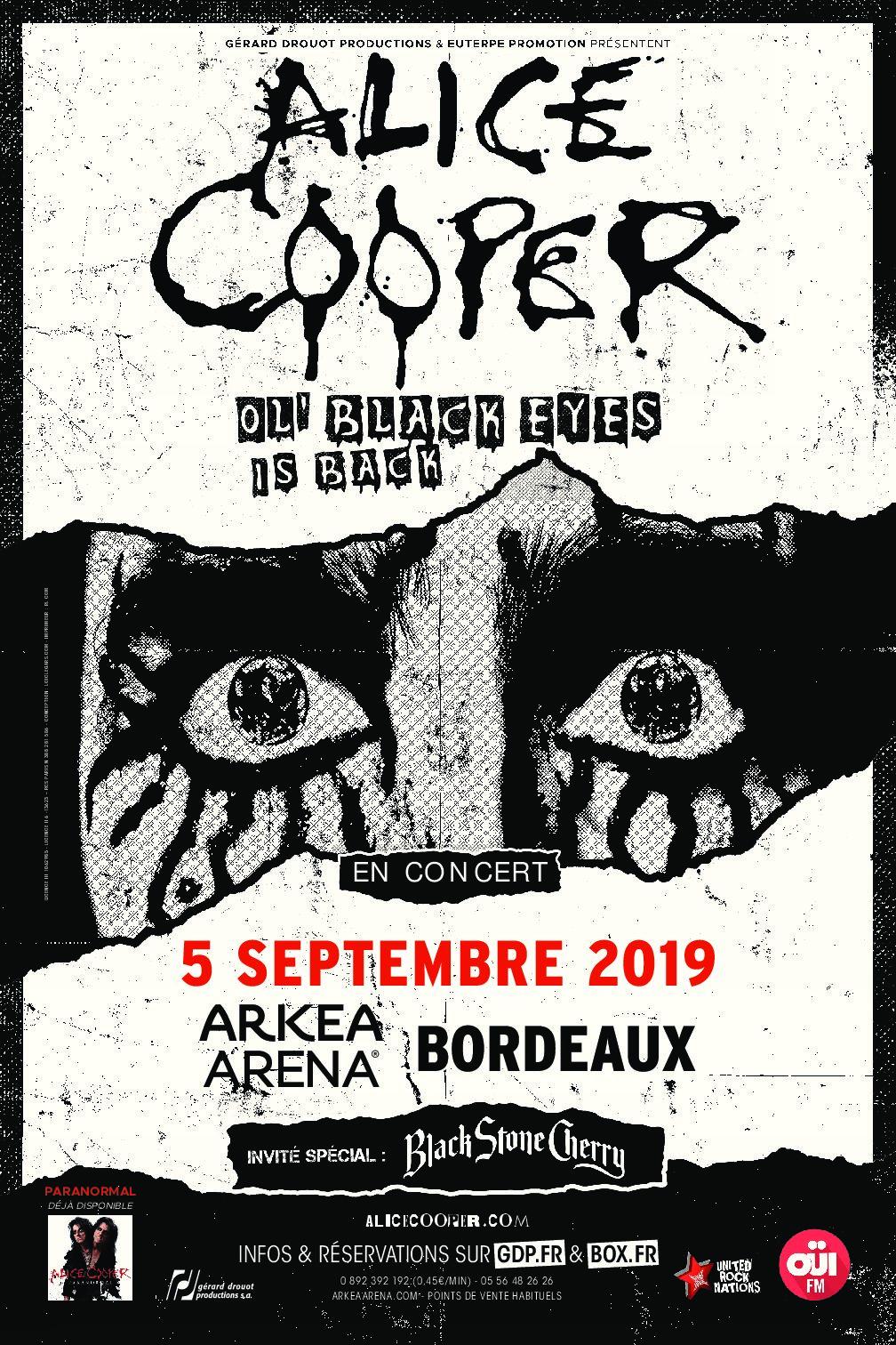 ALICE COOPER + Black Stone Cherry @ l'Arkea Arena (Bordeaux)