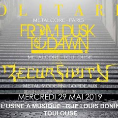 SOLITARIS + FROM DUSK TO DAWN + RECURSIVITY @ L'Usine A Musique